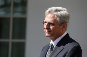 WASHINGTON, DC - MARCH 16: U.S. Court of Appeals for the District of Columbia Circuit Chief Judge Merrick B. Garland is introduced by U.S. President Barack Obama as the nominee for the Supreme Court in the Rose Garden at the White House March 16, 2016 in Washington, DC. If confirmed by the US Senate, Garland would replace Antonin Scalia who died suddenly last month. (Photo by Mark Wilson/Getty Images)