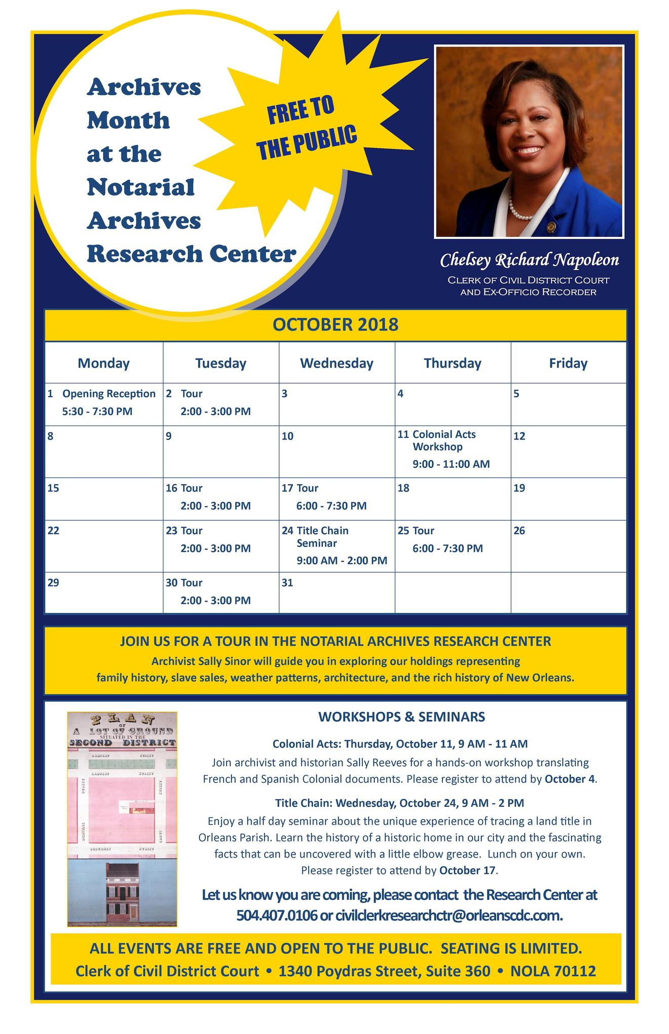 2018 Archives Month Flyer