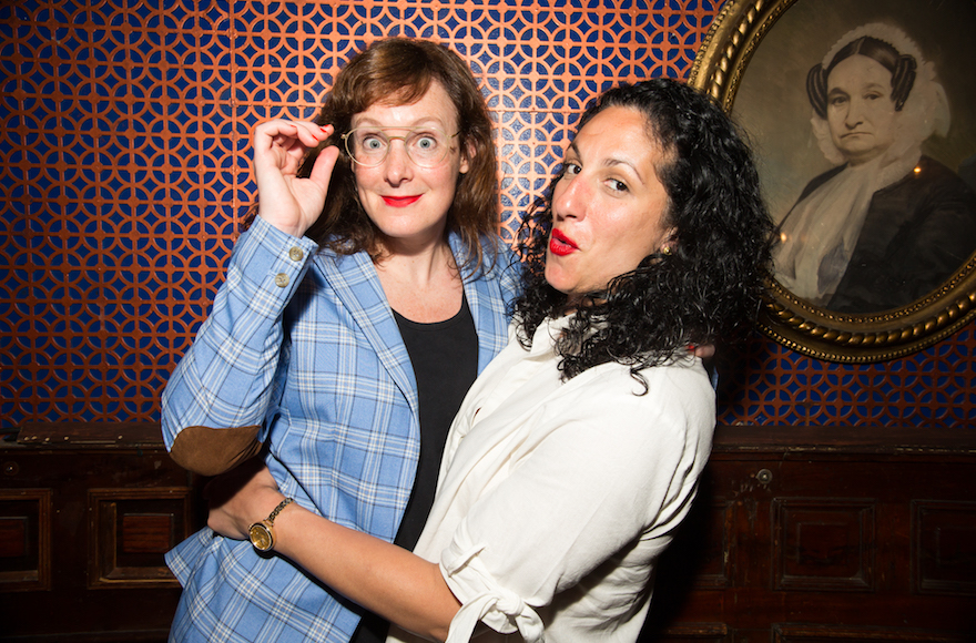 A married lesbian Palestinian-Jewish couple aims to break stereotypes — and make it big in comedy
