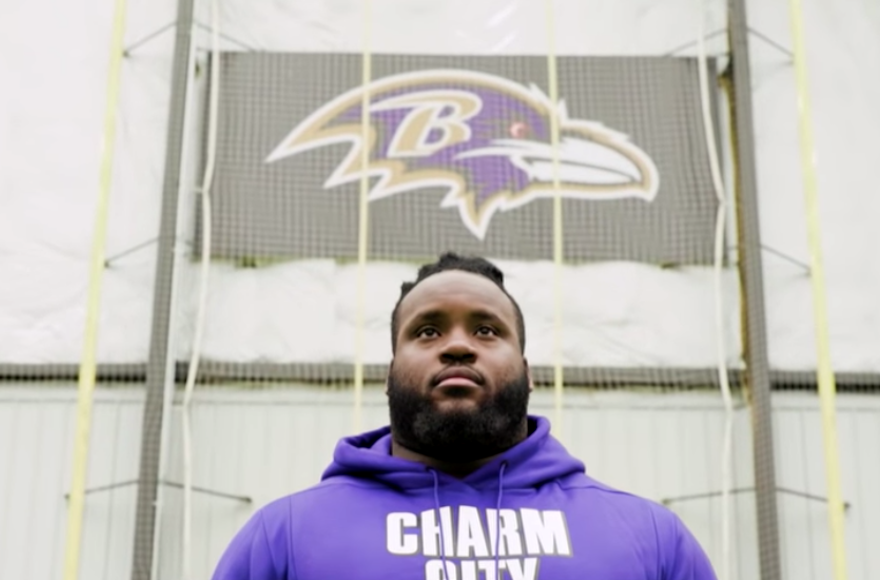 Baltimore Ravens lineman to wear Israeli flag on his cleats in Sunday's NFL game